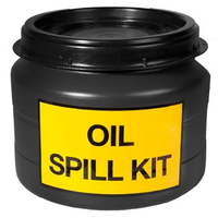 Oil spill set in drum